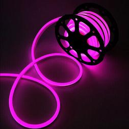 100ft PINK LED Neon Rope Light Party Weeding KTV Room Ceilin