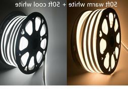 110V LED Flex Neon Rope Light Waterproof Soft Strip Commerci