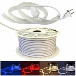 110V Neon LED Strip Light 2835 120LED/M Flex Rope Light DIY
