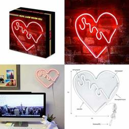 "14"" X 14"""" LED Neon RED ""Love"" Heart Wall Sign For Cool"