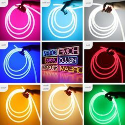 100ft LED Flex Neon Rope Light Building Wedding Garden Sign