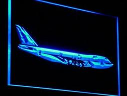 "16""x12"" m004-b Aeroplane Airbus Services Shop Display Neon S"