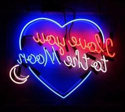 "17""X14""I Love You To The Moon Neon Sign Light Weeding Propos"