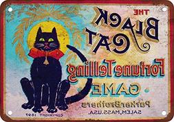 1897 Black Cat Fortune Telling Game Vintage Look Reproductio