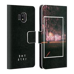 Official The 1975 Neon Sign Logo Songs Leather Book Wallet C