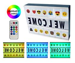 2019 Model Cinema Light Box with Letters and Emoji A4 Messag
