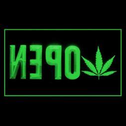 220093 Open Marijuana Hemp drag Weed Drug Display LED Light