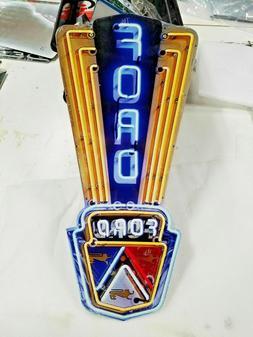 "24"" Neon style sign in steel Ford Jubilee Mustang Truck Gara"