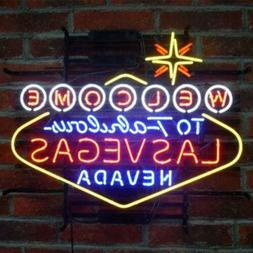 "24""x20""Welcome to Fabulous Las Vegas Nevada Neon Sign Light"