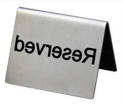 New Star 26863 Stainless Steel Reserved Tent Sign, 2 by 1.5-