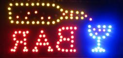 2xhome - Open Bar Led Neon Business Motion Light Sign. On/of