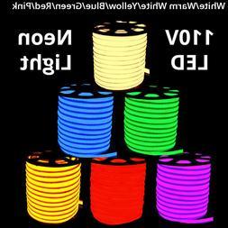 150' 110V Commercial LED Flexible Neon Rope Strip Light Flex