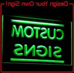 3 Sizes Custom Neon Sign Light Up Letters Man Cave Game Room