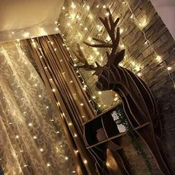 Twinkle Star 300 LED Window Curtain String Light for Wedding