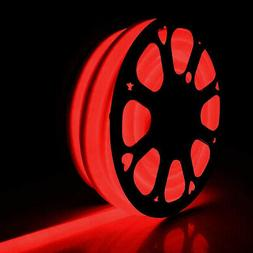 30M 100'FT RED LED Neon Rope Light Flex Tube Sign In/Outdoor