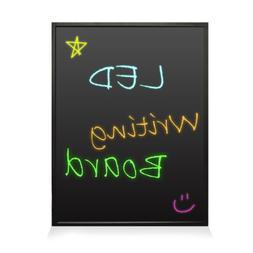 """35x24"""" Neon LED Light Board - Flashing Illuminated Erasabl"""