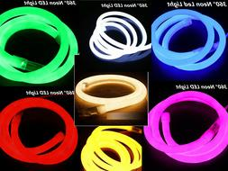 360° Round LED Neon Rope Light Flex Tube DIY Sign In/Outdoo