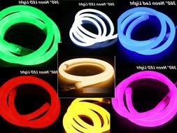 360° Round LED Neon Rope Light Flex Tube DIY Sign In//Outdoor Decor 110V 10ft