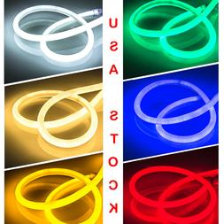 360° Round LED Neon Rope Light Party DIY Project AD Sign De
