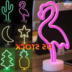 3D LED Night Light Remote Control 7 Colors Table Desk Lamp N