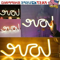 3d love neon sign light led wall