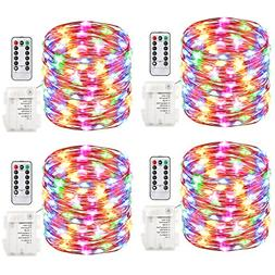 4 Pack Neon Signs Fairy Lights Battery Operated String Water