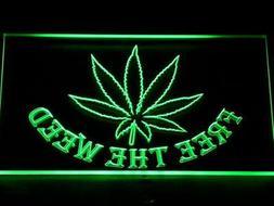 404-g Free the Weed Marijuana High Life Neon Light Sign