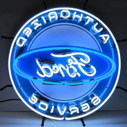 Neonetics 5FRDBK Authorized Ford Service Neon Sign with Back