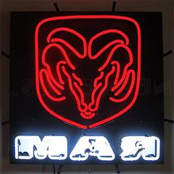 "Neonetics 5RAMBK Ram Red Neon Sign with Backing, 4"" x 24"" x"