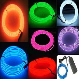 7 Pack - Jytrend 9ft Neon Light El Wire w/ Battery Pack