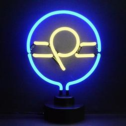9 ball billiards neon sign sculpture UL table shelf or wall