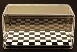 Acrylic Display Case with Checkered Flag Base for 1/24 Scale