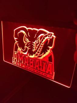 Alabama Crimson Tide LED Neon Sign for Game Room,Office,Bar,