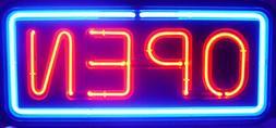 BIG HORIZONTAL NEON OPEN SIGN LIGHT OPENSIGN RESTAURANT BUSI