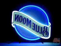 Blue Moon Neon Sign 17''x14'' From USA