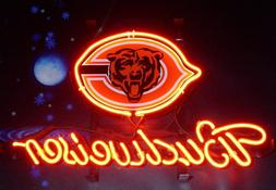 Budweiser Bud Light Chicago Bears American Football Neon Sig