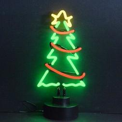Christmas Tree Xmas Garland neon sign sculpture art UL table
