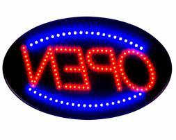 "Delux Ultra Bright Jumbo Size Flash Motion 24""x 13"" LED Neon"