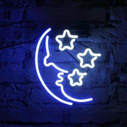FUYALIN Neon Sign - MOON  STAR Home Decor Light bedroom Neon