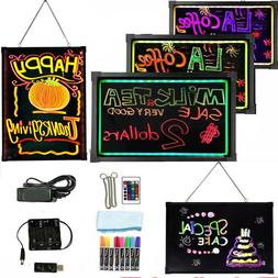 Flashing Illuminated Erasable Led Neon Sign Message Menu Wri