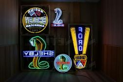 Ford Neon Sign collection of 6 Jubilee Mustang Shelby GT Ova