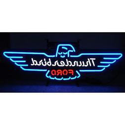 Ford Thunderbird neon sign T-bird Retro Mancave sign metal g