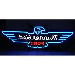 Ford Thunderbird neon sign T-bird Retro Mancave sign metal g