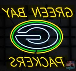 """Green Bay Packers Neon Sign 20""""x16"""" From USA"""