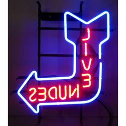 """Live Nudes Neon sign on metal grid 22"""" x 22""""  Big Daddy Movi"""