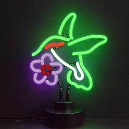 Humingbird neon sculpture sign Butterfly Garden desk shelf l