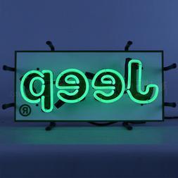 Jeep Green Neon Sign - Wrangler - CJ - Willys - Chrysler - D
