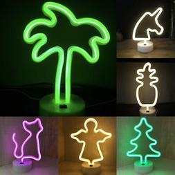 LED Flamingo Lamp Neon Sign Desk Wall Lamps Mini Night Li