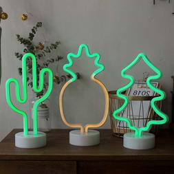 LED Lamp Neon Sign Desk Wall Lamps Mini Night Light Novelty