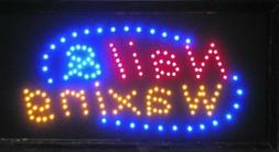 LED Neon Light Banner Sign Hair Cut Salon Beauty Nail & Waxi